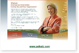 image of patkatz.com website