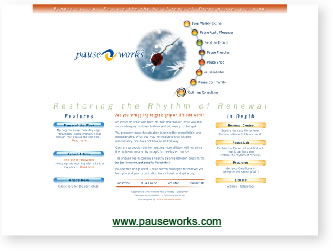 image of pauseworks.com website